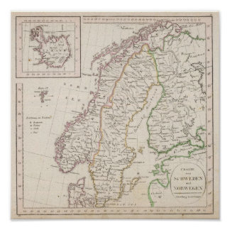 Sverige norge, island poster