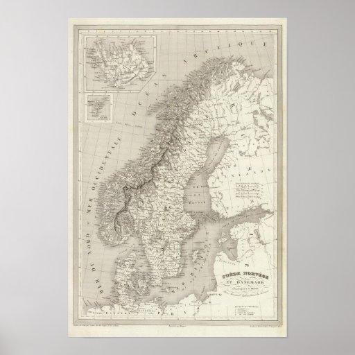 Sverige, norge och Danmark Print