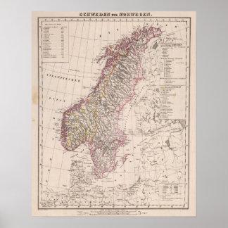 Sverige och norge 2 poster