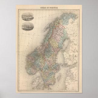 Sverige och norge 4 poster