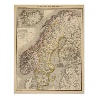 Sverige och norge 5 posters