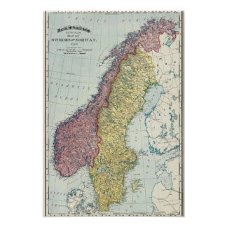 Sverige och norge 5 print