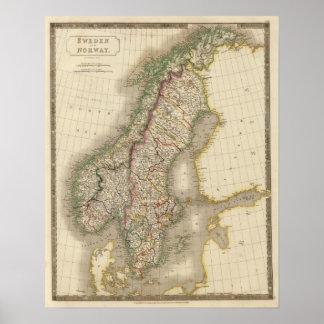 Sverige och norge 9 print