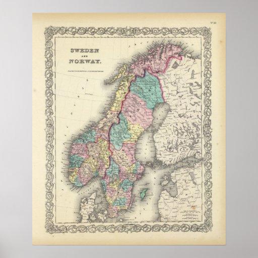 Sverige och norge affisch