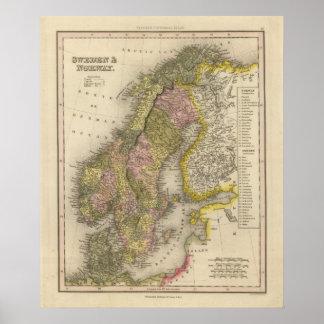 Sverige och norge print
