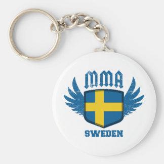 Sverige Rund Nyckelring