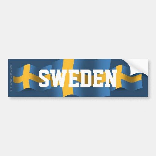 Sverige som vinkar flagga bildekaler