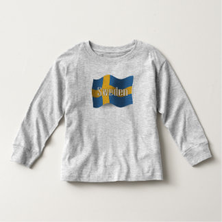 Sverige som vinkar flagga t shirt
