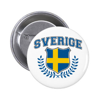 Sverige Standard Knapp Rund 5.7 Cm