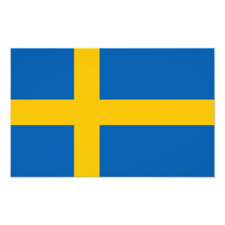 Sverige - svenskflagga fotontryck