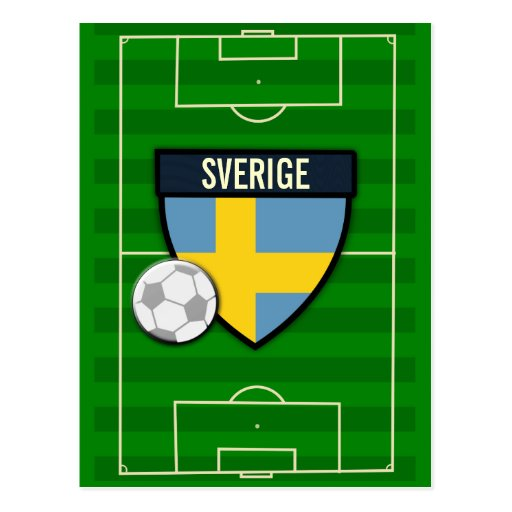 Sverige sverigefotboll vykort