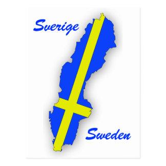 Sverige = sverigekarta vykort