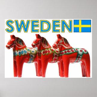 SverigeDala häst Poster