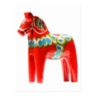 SverigeDala häst Vykort