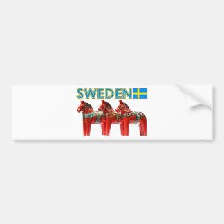 SverigeDala hästar Bildekal