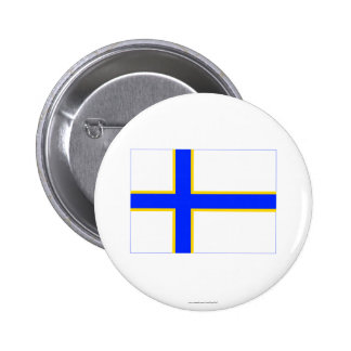 Sverigefinska flagga knappar med nål