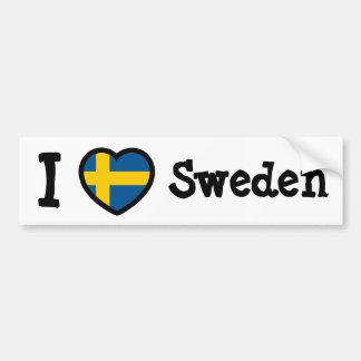Sverigeflagga Bildekal