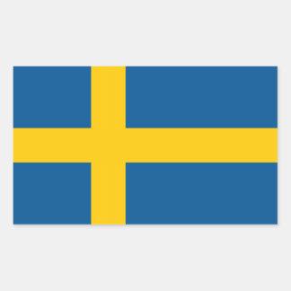 Sverigeflagga Rektangulärt Klistermärke