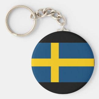 Sverigeflagga Rund Nyckelring