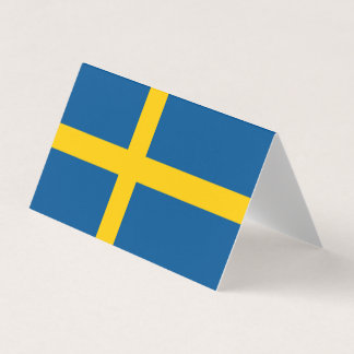 Sverigeflagga Visitkort