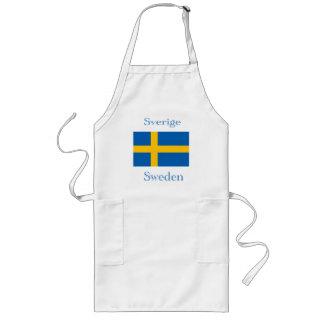 Sverigeflaggaförkläde Långt Förkläde