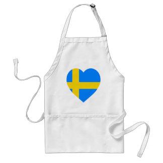 Sverigeflaggahjärta Förkläde
