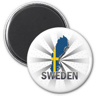 Sverigeflaggakarta 2 0 kylskåpmagneter