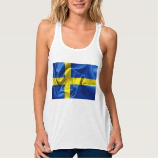 Sverigeflaggakvinna tanktop