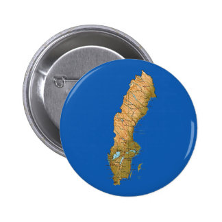 Sverigekartan knäppas standard knapp rund 5.7 cm
