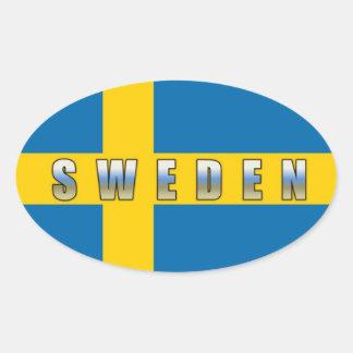 Sverigeklistermärke Ovalt Klistermärke