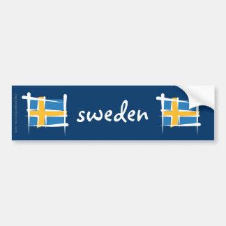 Sverigen borstar flagga bildekal