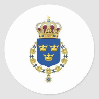Sverigevapensköld Runt Klistermärke