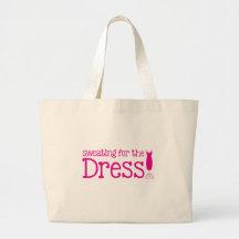 Svettas för klänningen! (nätt rosor) tygkasse