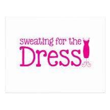 Svettas för klänningen! (nätt rosor) vykort