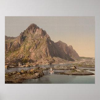 Svolvaer Lofoten, Nord-Norge, norge Poster