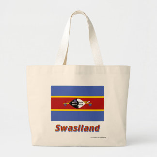 Swasiland Flagge mit Namen Tote Bag
