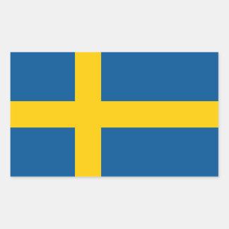 Swedish* flaggaklistermärke rektangulärt klistermärke