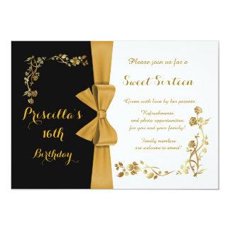 Sweet sixteenfödelsedaginbjudan, 16th, Gatsby 12,7 X 17,8 Cm Inbjudningskort