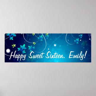 Sweet sixteenfödelsedagsfestbaner poster