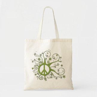 Swirly grön fred tygkasse