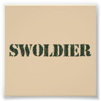 Swoldier Swole US soldat Fotontryck