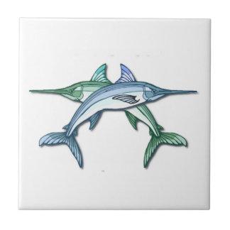 Swordfishdesignen belägger med tegel kakelplatta