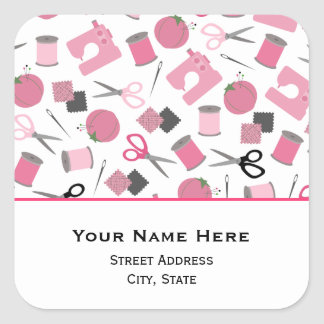 Sy den Themed adressklistermärken Fyrkantigt Klistermärke
