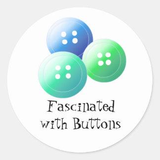 Sy design runt klistermärke