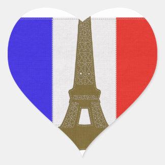Sy det Eiffel torn Hjärtformat Klistermärke