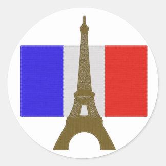 Sy det Eiffel torn Runt Klistermärke