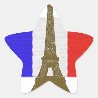 Sy det Eiffel torn Stjärnformat Klistermärke