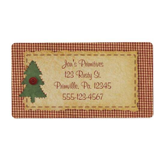 Sy etiketten för julgranhelgdagaffären fraktsedel