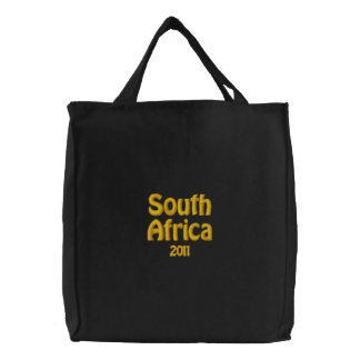 Sydafrika 2011 patriotiska fläktmerchandise broderade kassar