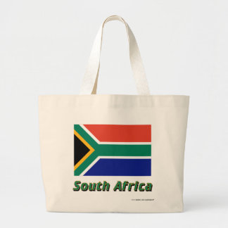 Sydafrika flagga med namn tote bags